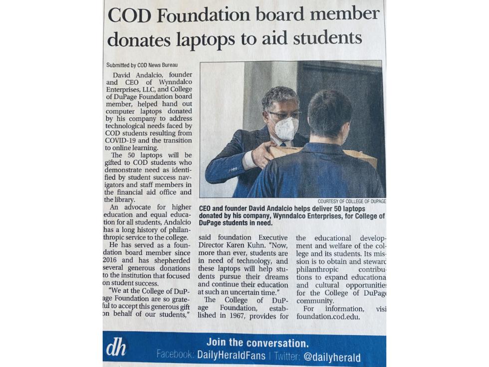 wynndalco donation news
